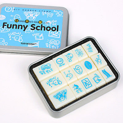 DIY Rubber Stamp - Dakkutem Vol.3 - Funny School