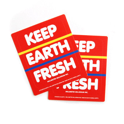 Sticker MMMG 03 - Keep Earth Fresh