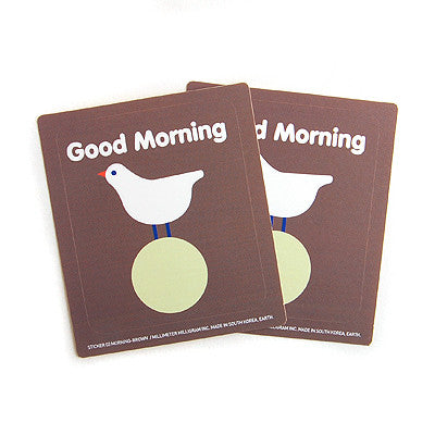 Sticker MMMG 03 - Good Morning - Brown