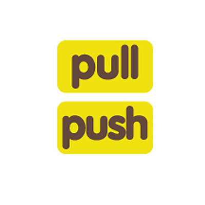 Sticker MMMG 03 - Pull-Push - Brown