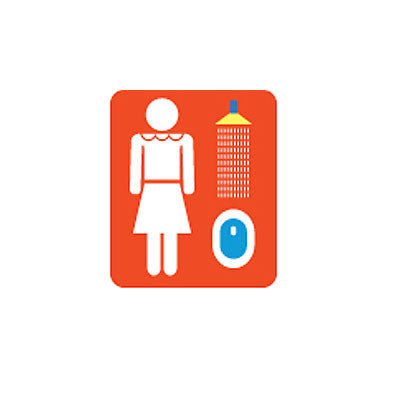 Sticker MMMG 03 - Woman Red