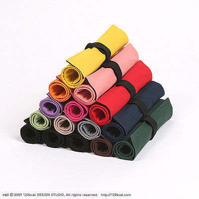 Roll Pencil Case - 12 Colors