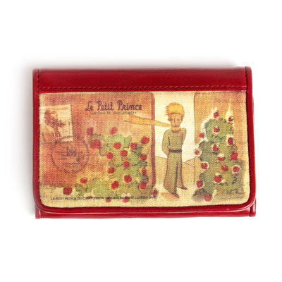 Leather Business Card Case The Little Prince - Red - LP2234