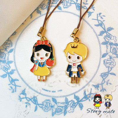 Couple Mobile Strap Story Mate - Snow White & The Little Ptince