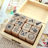 Wooden Stamp Set - Natural