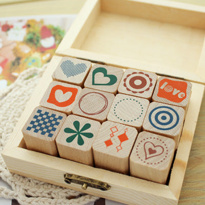 Wooden Stamp Set - Simple