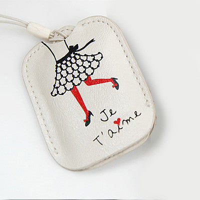 Mini Pocket Mirror  Mobile Strap - Look at Me