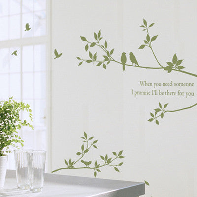 Wall Deco Vinyl - Happy Tree 2 - Left
