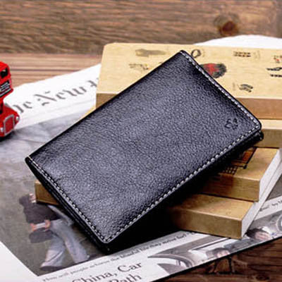 Leather Card Case - Black