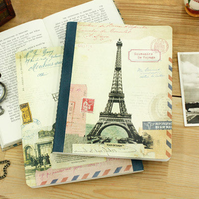 Stitch Line Notebook Fat - Paris - Blue