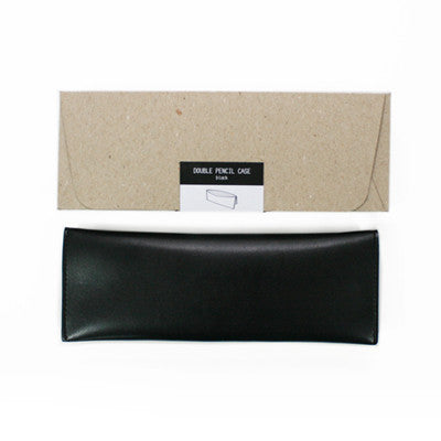 Ecology Double Pencil Case - Black