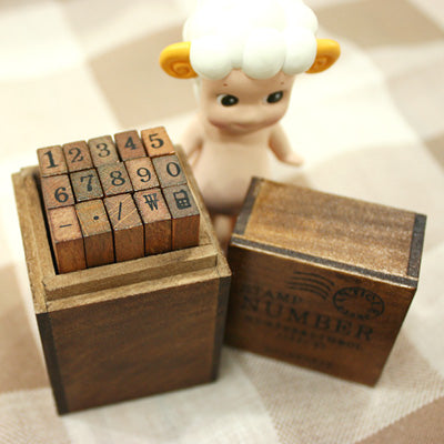Antique Stamps Set - Numbers (15 units)