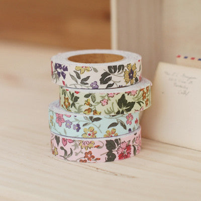 Fabric Adhesive Tape - Wild Flower - Sky Blue - 04