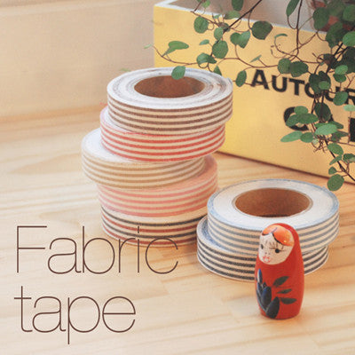 Fabric Adhesive Tape - Stripe - Navy 06