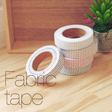 Fabric Adhesive Tape - Line Check - Brown 05