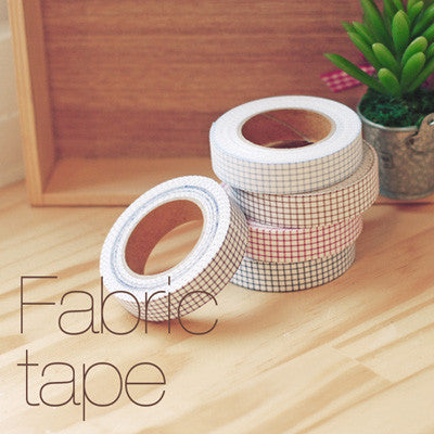 Fabric Adhesive Tape - Line Check - Sky Blue - 01