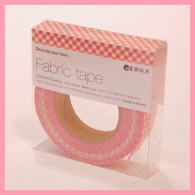 Fabric Adhesive Tape - Mini check - Pink 05