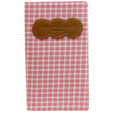 Card Case Teddy - Pink Check