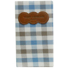 Card Case Teddy - Brown Blue
