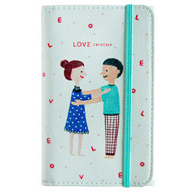 Card Case Love - Blue
