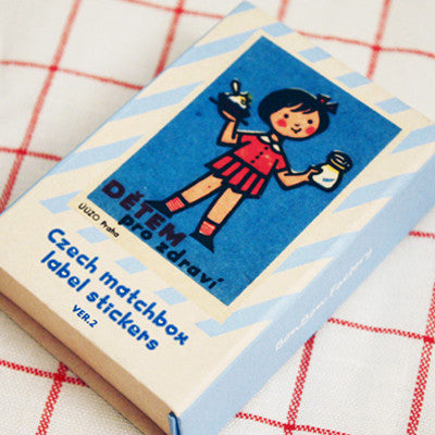 Czech Matchbox Label Stickers - Ver.2