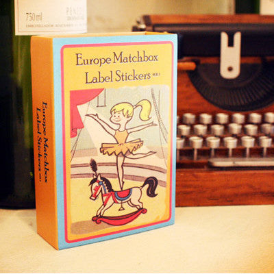 Europe Matchbox Label Stickers - Ver.1