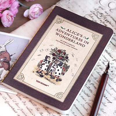 Stitch Notebook - Alice in Wonderland - Never Ending - Blank Note