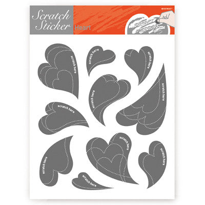 Scratch Sticker 601 - Hearts