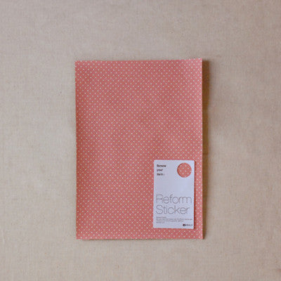 Fabric Reform Sticker - Dot ground - Pink