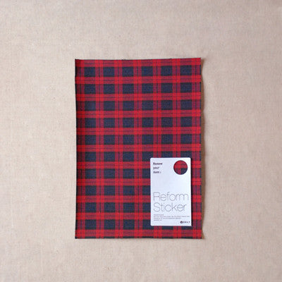 Fabric Reform Sticker - Tartan check - Ted