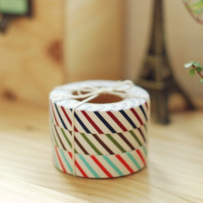 Fabric Adhesive Tape - Oblique Line - 02