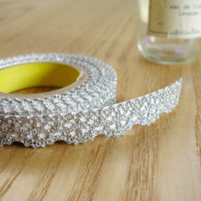 Lace Adhesive Roll Tape - Silver