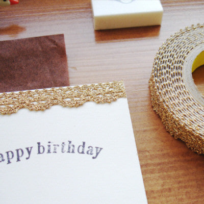 Lace Adhesive Roll Tape - Gold