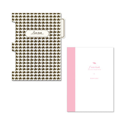 Flap Notebook - Chocolate Hound Check