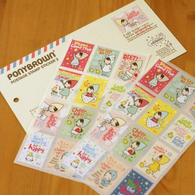 Stamp Sticker Set - Pony Brown - Ver.2
