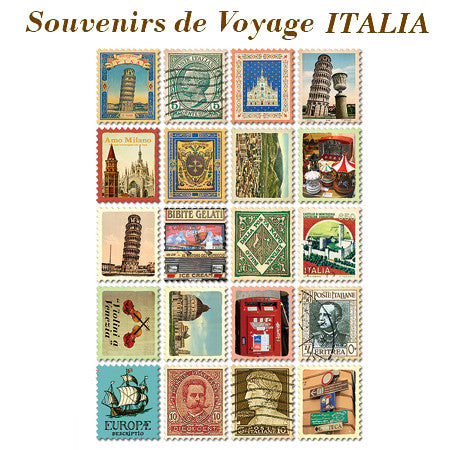 Stamp Sticker Set V.1 - Italy - VY5119