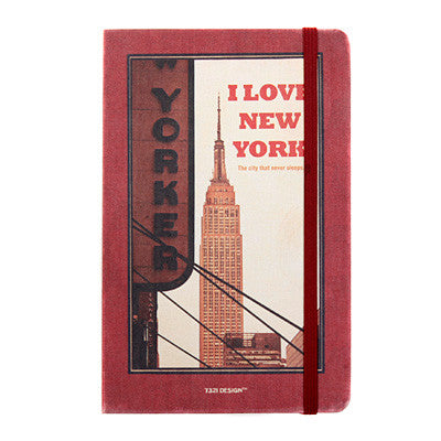 Hardcover Note - New York - Never Ending - M - Line Note