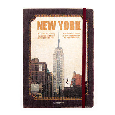 Hardcover Note - New York - Never Ending - L - Line Note