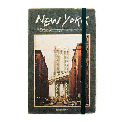 Hardcover Note - New York - Never Ending - M -Blank Note