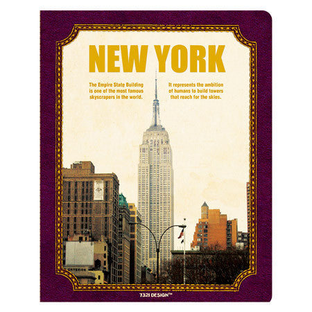 Stitch Notebook - New York - Line Note - L - VY7274