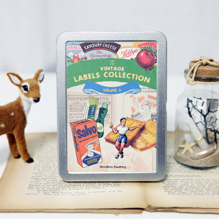 Vintage Label Sticker Set - Vol.3