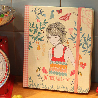 Hard Cover Grid Notebook Lady Desidia 07 - Dance - LV8172