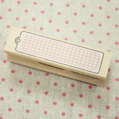 Long Line Wood Stamp - L10 - Tag