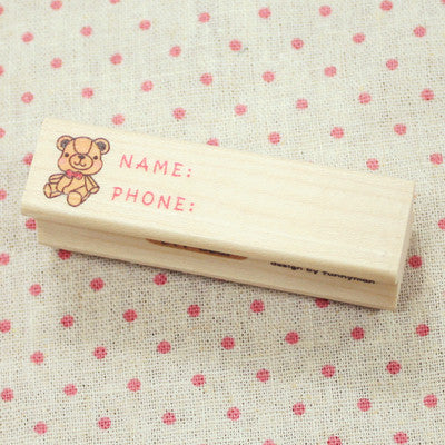 Long Line Wood Stamp - L11 - Bear