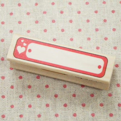 Long Line Wood Stamp - L13 - Love Tag