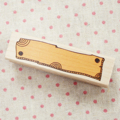Long Line Wood Stamp - L15 - Wood
