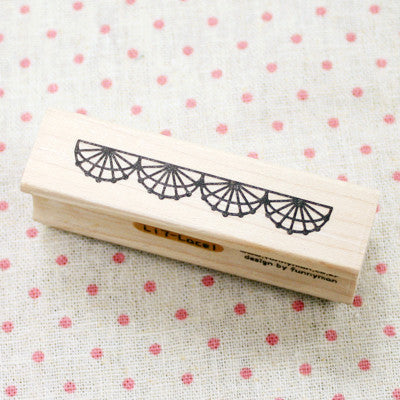 Long Line Wood Stamp - L17 - Lace 1