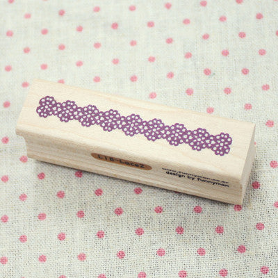 Long Line Wood Stamp - L18 - Lace 2