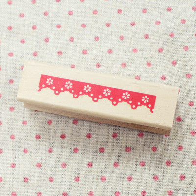 Long Line Wood Stamp - L19 - Lace 3