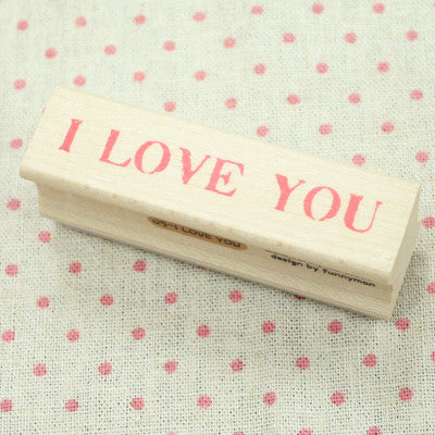 Long Line Wood Stamp - Message 05 - I Love You
